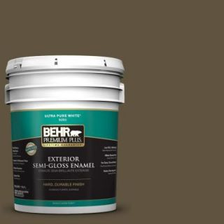 BEHR Premium Plus 5 gal. #S H 750 Mountain Trail Semi Gloss Enamel Exterior Paint 534005