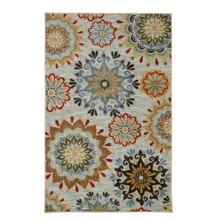 Mohawk Home Global Goddess Multicolor Geo Floral Pattern Multicolor Rectangular Indoor Machine Made Area Rug