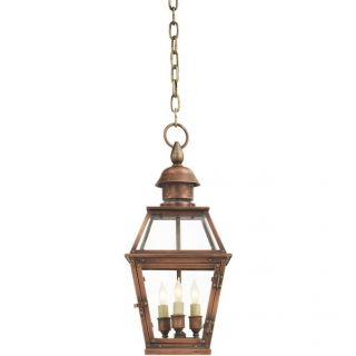 Visual Comfort CHO5080NC Chart House Pimlico 3 Light Small Hanging Lantern in Natural Copper
