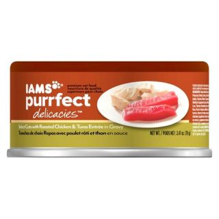 Iams Purrfect Delicacies Wet Cat Food Roasted Chicken & Tuna Entrée 2
