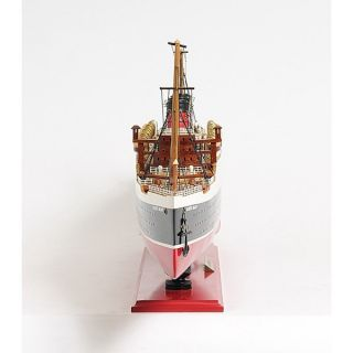 Old Modern Handicrafts C005 Large Queen Mary Model Ship in Black White