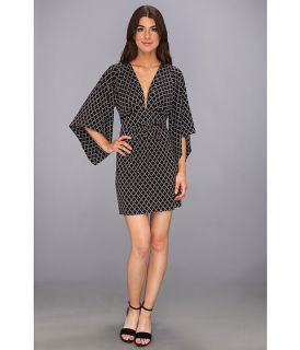 Tbags Los Angeles Deep V Neck Kimono Sleeves Mini Dress
