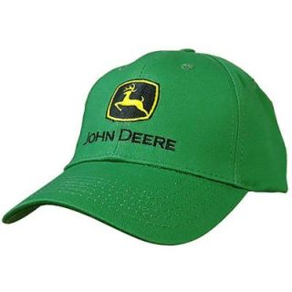 John Deere Men's One Size 6 Panel Twill Hat/Cap in Green 13080000GR00