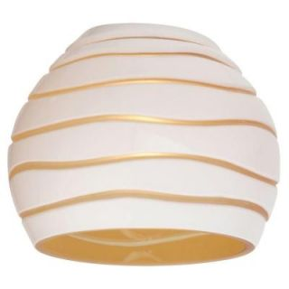 Sea Gull Lighting Ambiance Cased White/Amber with Engraved Pattern Directional Shade 94392 6135