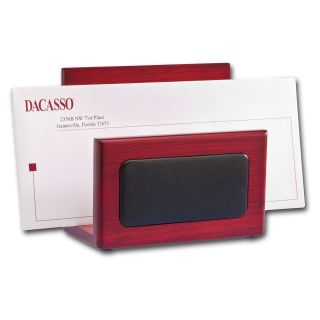 Dacasso Leather Letter Holder   Rosewood   Office Desk Accessories