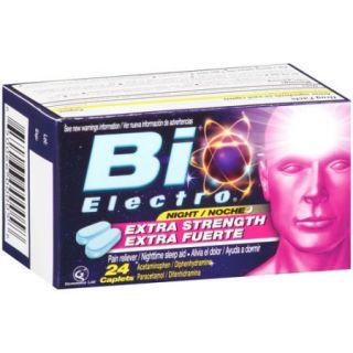 Bio Electro Extra Strength Pain Reliever/Nighttime Sleep Aid Caplets, Acetaminophen / Diphenhydramine, 24 count