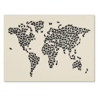 """14 in. x 19 in. """"Cats World Map 2"""" Canvas Art MT0208 C1419GG"""