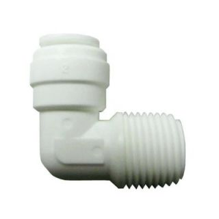 3/8 in. x 1/4 in. Plastic 90 Degree O.D. x MPT Elbow PL 3028