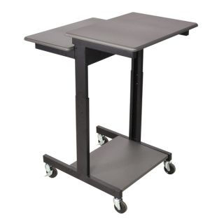 Offex Mobile Hydraulic Adjustable Height Multimedia Computer Desk