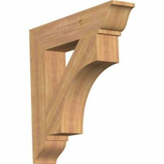 Ekena Millwork 5.5 in. x 30 in. x 30 in. Western Red Cedar Westlake Traditional Smooth Bracket BKT06X30X30WTL01SWR