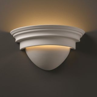 Justice Design Group 1 light Classic Ceramic Bisque Wall Sconce