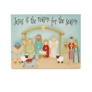 LED Jesus is Reason Nativity Wall Box Sign by Blossom Bucket