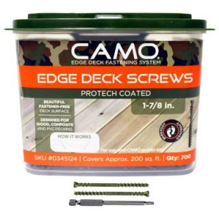 CAMO 1 7/8 in. ProTech Coated Trimhead Deck Screw (700 Count) 345124