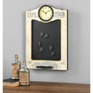Uttermost Cafe de la Tour Chalkboard and Clock   15W x 22H in.   Wall Art