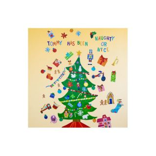 140 Piece Happy Holidays Peel and Place Wall Decal Set by Oopsy Daisy