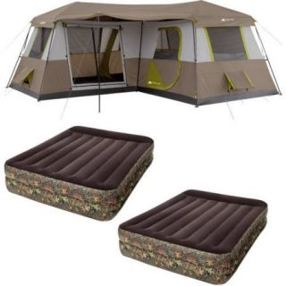 Ozark Trail 12 Person Tent with 2 Airbeds Value Bundle