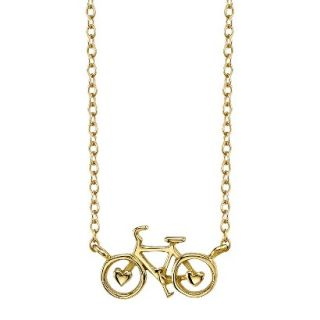 Footnotes Sterling Silver Bicycle Station Necklace   Gold