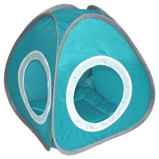 Blue Pyramid shaped Cat Cozy Tent