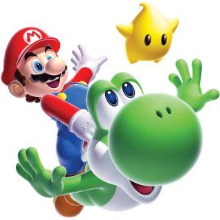 Nintendo   Mario Bros   Mario Yoshi Peel and Stick Giant Wall Decal   Kids and Nursery Wall Art