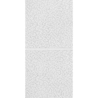 Armstrong Scored Contractor 10 Pack White Patterned 15/16 in Drop Acoustic Panel Ceiling Tiles (Common: 48 in x 24 in; Actual: 47.719 in x 23.719 in)