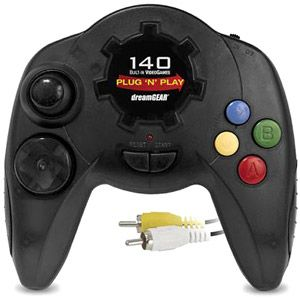dreamGEAR Plug 'n Play Controller with 140 Games