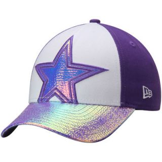 Dallas Cowboys New Era Youth Girls Radiant Bloom 9FORTY Adjustable Hat   Purple/White