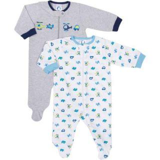 Gerber Newborn Baby Boy Sleep n' Play, 2 Pack