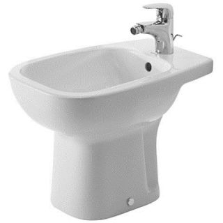 Duravit 22381000002 D Code 22 Single Hole Floor Standing Bidet in White with Overflow