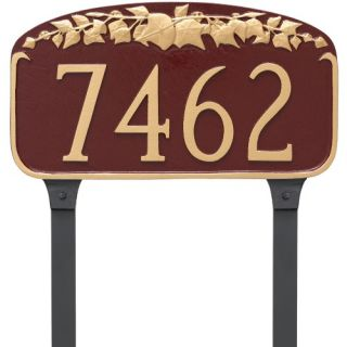 Montague Metal Ivy Leaf Address Sign Lawn Plaque   Address Plaques
