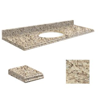 Transolid Giallo Ornamental Granite Undermount Single Bathroom Vanity Top (Common: 61 in x 22 in; Actual: 61 in x 22 in)