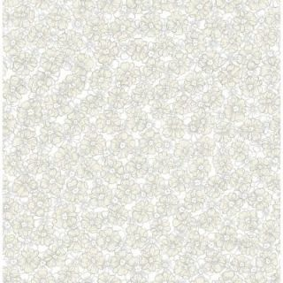 A Street 56 sq. ft. Allison Taupe Floral Wallpaper 2657 22227