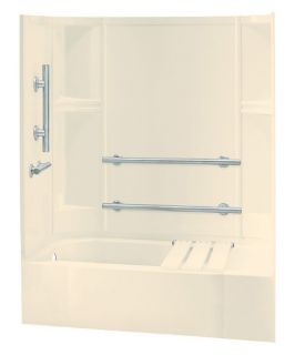 Sterling Accord® 71240115 60W x 72H in. Bathtub Shower Combo with Grab Bars and Right Side Seat