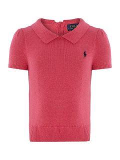 Polo Ralph Lauren Girls short sleeve jumper Pink