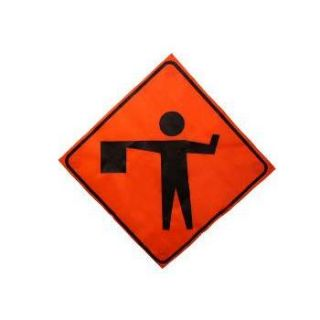 """Flaggers Symbol"" Roll up Traffic Control Sign"