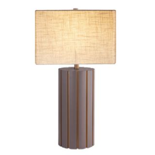 Quoizel Agate Portable Whispering Wood 25 H Table Lamp with Empire