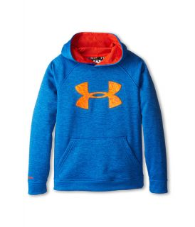 Under Armour Kids Armour Fleece Storm Big Logo Novelty Hoodie Big Kids Scatter Volcano Deep Space Blue, Blue, Under