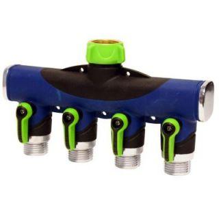 Ray Padula Deluxe 4 Way Hose Manifold Faucet Splitter RP SIFW E