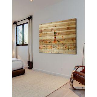 Paddling Painting Print on Natural Pine Wood by ParvezTaj