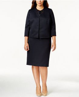 Tahari ASL Plus Size Cutout Skirt Suit   Wear to Work   Women