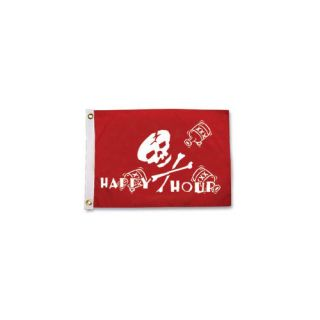 Pirate Heads Happy Hour Traditional Flag by Taylor Made Products