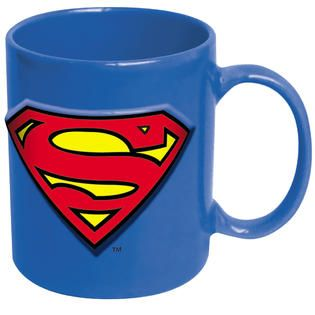 ICUP DC Comics Superman Embossed Logo 20 oz Ceramic Mug   Home