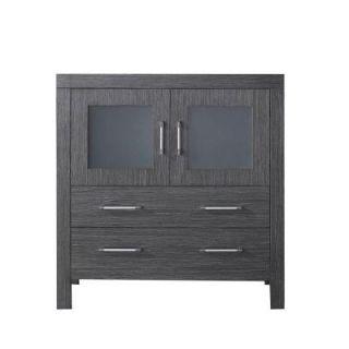 Virtu USA Dior 32 in. W x 18.3 in. D x 33.43 in. H Vanity Cabinet Only in Zebra Grey KS 70032 CAB ZG