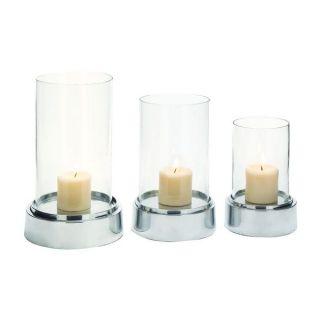 Aluminum Glass Candle Holders (Set of 3)   19028039