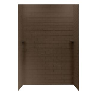 Swanstone Acorn Shower Wall Surround Side and Back Walls (Common: 62 in x 36 in; Actual: 96 in x 62 in x 36 in)