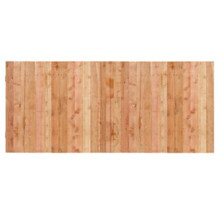 Natural Western Red Cedar Privacy Fence Panel (Common: 3.5 ft x 8 ft; Actual: 3.5 ft x 8 ft)