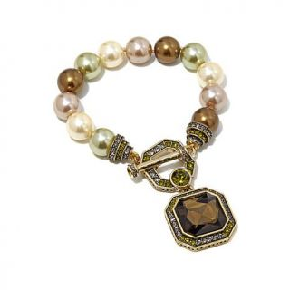 "Heidi Daus ""Essential Style"" Beaded Crystal Accented Toggle Bracelet   8201880"