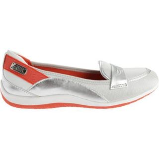 Womens Anne Klein Welcome Slip on Silver/White Multi Fabric