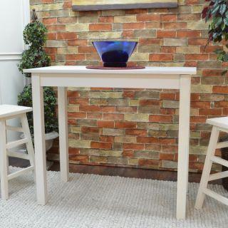 Antique White Pavina Pub Bar Table   14124135   Shopping