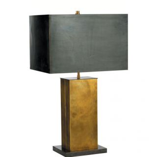 Visual Comfort TOB3033HAB BZ BZ Thomas O Brien Tall Dixon 2 Light Table Lamp in Hand Rubbed Antique Brass Bronze with Bronze Shade