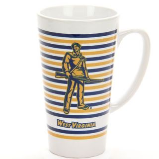 West Virginia Mountaineers 16oz. Logo Striped Glass Latte Mug